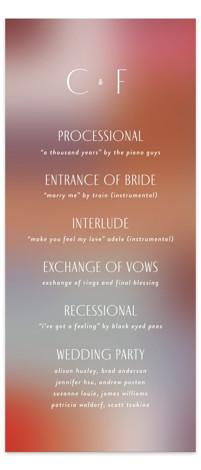 Retro Grid Wedding Programs