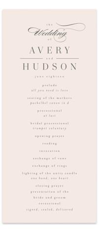 Anson Wedding Programs