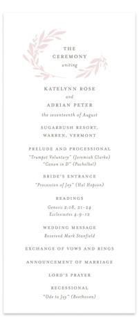 Gathered Wedding Programs