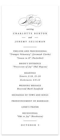 Together With You Wedding Programs