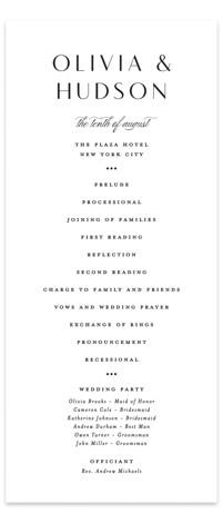 Plaza Wedding Programs