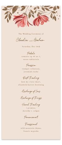 Painterly Florals Wedding Programs