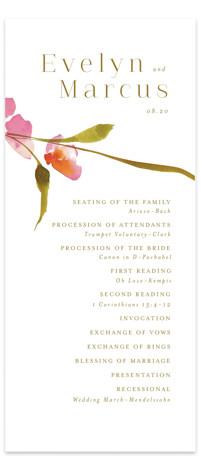 colorwash floral Wedding Programs