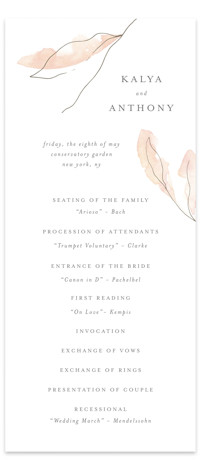 Autumn Euphoria Wedding Programs