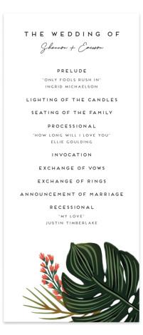 Tropical Oasis Wedding Programs