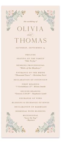 Wild Flora Wedding Programs