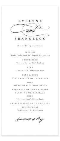 Blancmange Wedding Programs