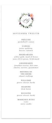 Garlands Wedding Programs