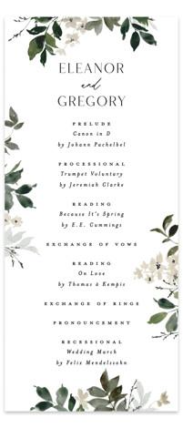 Grove Wedding Programs
