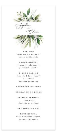Greenery Banner Wedding Programs