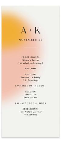 Blend Wedding Programs