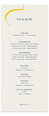 Ophelia Wedding Programs