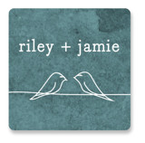 Birds of a Feather Wedding Favor Stickers