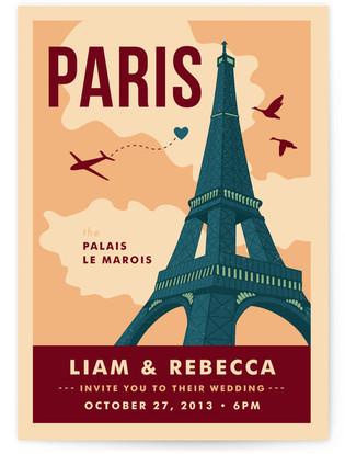 Bonjour Paris Print-It-Yourself Wedding Invitations