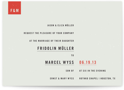 Modern Print-It-Yourself Wedding Invitations