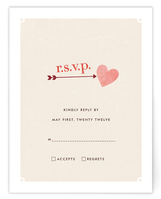 Cozy Print-It-Yourself Wedding RSVP Cards
