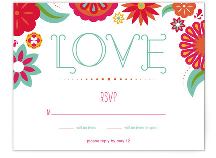 Dia de Amor Print-It-Yourself Wedding RSVP Cards
