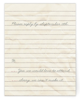 Memento Print-It-Yourself Wedding RSVP Cards