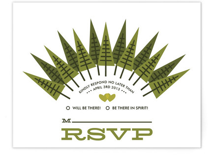 Forevergreen Print-It-Yourself Wedding RSVP Cards