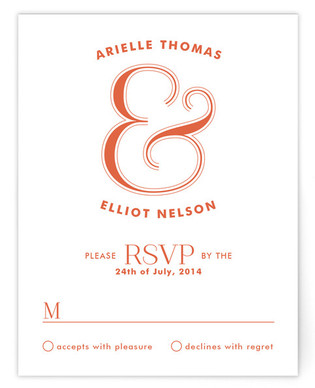 Curved Print-It-Yourself Wedding RSVP Cards
