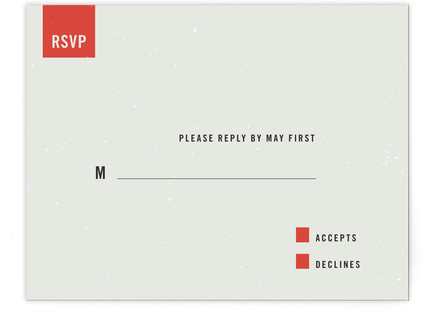 Modern Print-It-Yourself Wedding RSVP Cards