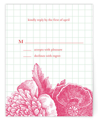 Bibliotheque Print-It-Yourself Wedding RSVP Cards