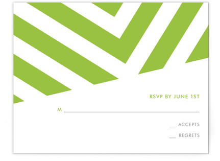 Fracas Print-It-Yourself Wedding RSVP Cards