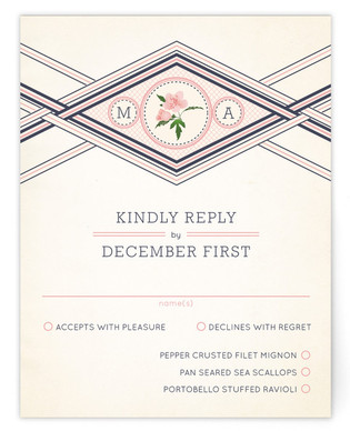 Elegance Entwined Print-It-Yourself Wedding RSVP Cards