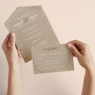 Starlight All-in-One Foil-Pressed Wedding Invitations