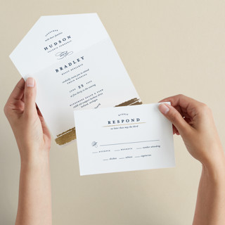 Gala All-in-One Foil-Pressed Wedding Invitations