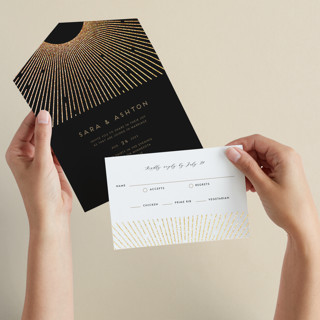 Supernova All-in-One Foil-Pressed Wedding Invitations