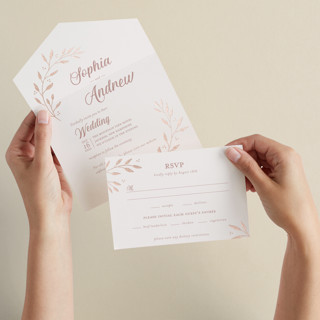 Vineyard All-in-One Foil-Pressed Wedding Invitations