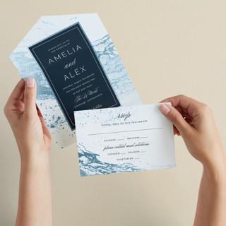 Classic Splash All-in-One Foil-Pressed Wedding Invitations