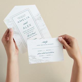 Classic Splash All-in-One Gloss-Press Wedding Invitations