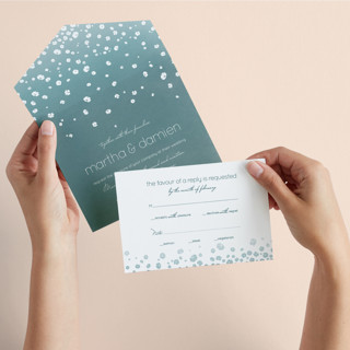 blissful rain All-in-One Wedding Invitations