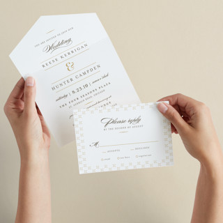 Valencay All-in-One Wedding Invitations