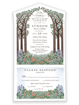 Nature's Chapel All-in-One Wedding Invitations