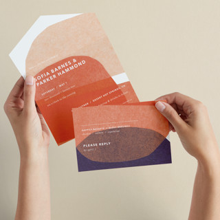 tissue texture All-in-One Wedding Invitations