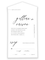Villa All-in-One Wedding Invitations