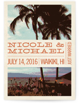 Island Palms Wedding Announcements