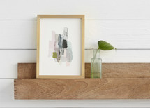 The Artful Shelf™ with Stacked Joints Art Shelves