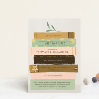 Book Lovers Baby Shower Postcards
