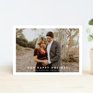 Happy Christmas Holiday Birth Announcement Postcards