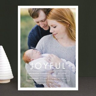 More Joy Holiday Birth Announcements