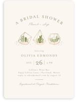 Bridal Terrariums Foil-Pressed Bridal Shower Invitations