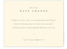 Classic Date Change Baby Shower Insert Cards