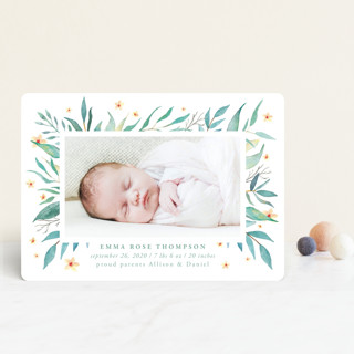 watercolor botany Birth Announcement Petite Cards
