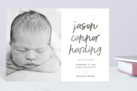 In Bold Print Birth Announcement Petite Cards