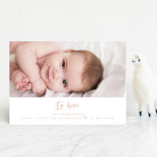 I'm Here Birth Announcement Petite Cards