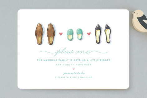 Plus One Birth Announcement Petite Cards
